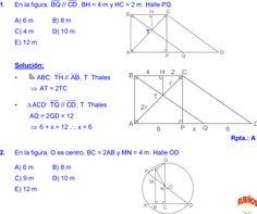 THALES Y PROPORCIONALIDAD EJERCICIOS RESUELTOS DE GEOMETRIA MATEMÁTICAS DE SECUNDARIA Y PREUNIVERSITARIA pdf Periodic Table Of The Elements, Aesthetic Iphone Wallpaper, Line Chart, Geometry, Formulas, Math, Trigonometry, Plane Geometry, Study Tips
