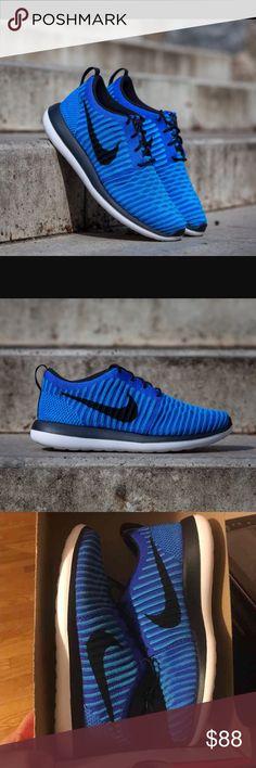 Nike Roshe Two Flyknit ** Price is not firm make an offer* New Nike Roshe Two Flyknit GS. Size 6.5 Youth which equals to a Woman size 8.5. And i also have a 7 youth which equals to women size 9 Box has no lid and will be folded for better shipping. Nike Shoes Athletic Shoes