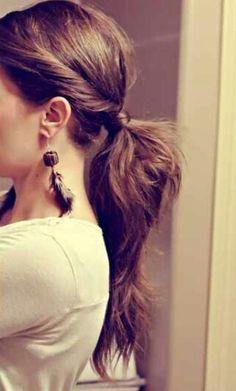 Simply nice ponytail