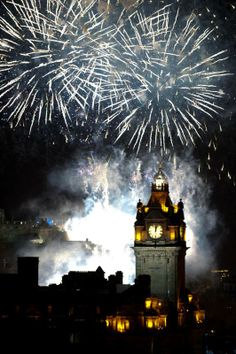 """Hogmanay ~ the Scottish New Year, The roots of Hogmanay perhaps reach back to the celebration of the winter solstice among the Norse, as well as incorporating customs from the Gaelic celebration of Samhain. The Vikings celebrated Yule, which later contributed to the Twelve Days of Christmas, or the """"Daft Days"""" as they were sometimes called in Scotland. Edinburgh Hogmanay, Edinburgh Scotland, Scotland Travel, Hogmanay Scotland, Edinburgh City, Scotland Trip, Ireland Travel, Holidays Around The World, Festivals Around The World"""