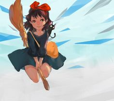 Kiki's delivery service  tags : anime fanart painting art ghibli