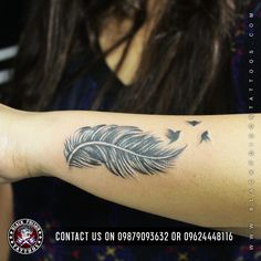 Small feather tattoo with birds are also famous. This tattoo can be inked on your back.