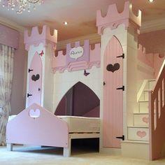 Elaborate Princess Castle Bunk Bed