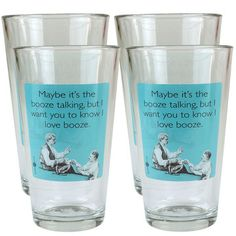 Booze Talking Set Of 4, $23, now featured on Fab.