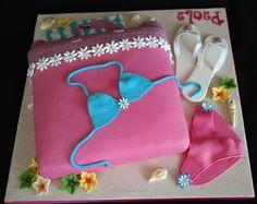 Sunbathing girl cake | Andy & Vicky 70th cake ideas | Pinterest ...