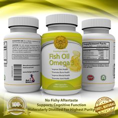 Omega 3 Fish Oil - It has been proven to prevent heart diseases and improve your joints. There are so many other benefits.
