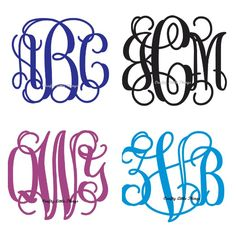 We want to brand our wedding with our monogram.  I love these fonts and how script like they are.  Reminds me of the filigree on my engagement ring