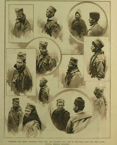 Portraits of Serbian soldiers.