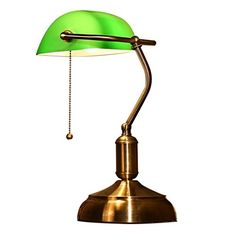 LED Bankers lamp desk lamp table lamp reading light Antique green ...