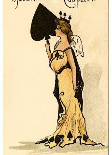 Vintage Ephemera – Queen of Spades - Vintage Fashion Cards - Costumes - The Graphic Fairy
