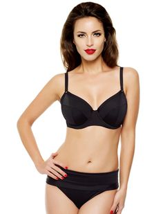 8c6aa28d9d Panache Isobel Underwire Balconnet Bikini Top SW0762 in Black