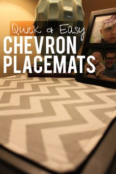 Super sweet, super easy, DIY chevron placemats/ table toppers/ etc.