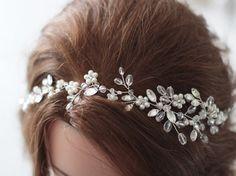 Tocado de novia pedazo del pelo de Novia de por SvetloDesign