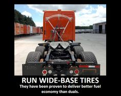 Here's the Fuel Saving #Tip of the Day: Run Wide-Base Tires.
