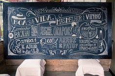 Chalk boards made for an Iberian restaurant in Curitiba, Brazil ;o)