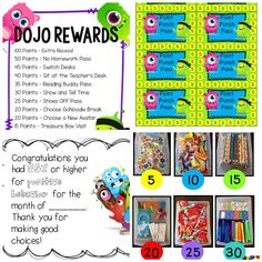 27 Amazing Class Dojo Printables and Ideas - Class Dojo Rewards - Teach Junkie