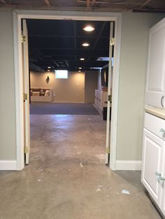 View from storage room Black Ceiling, Storage Room, Basement, Flat, Home Decor, Pantry Room, Bass, Decoration Home, Room Decor
