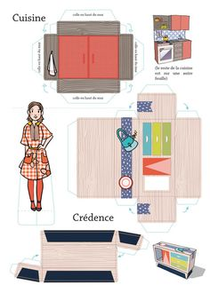 Arts And Crafts Office Furniture Paper Crafts Origami, Diy Paper, Paper Art, Paper Furniture, Barbie Furniture, Office Furniture, Paper Doll House, Paper Houses, Miniature Furniture