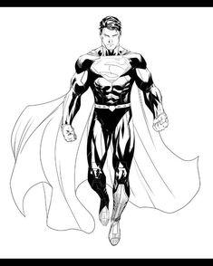Superman by Ryan Benjamin  @dccomics #superman #clarkkent #superhero #hero #art #digitalart #digital #inks #pencils #drawing #sketch