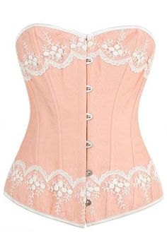 Victorian Inspired Peach Overbust Corset