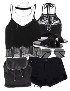 """Untitled #17452"" by florencia95 ❤ liked on Polyvore featuring Mikoh, Wilfred, STELLA McCARTNEY, Ancient Greek Sandals, H&M and Forever 21"