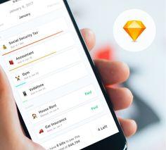 Debts App UI concept UI design