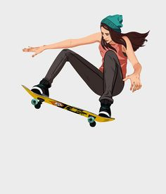 Skateboard chicks on Behance