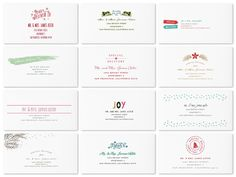 Holiday Card Envelopes  Ensure Your Cards Make a Statement Even Before They are Opened!  >> Here are just a few of  Minted's holiday card envelope designs available with their free recipient addressing service