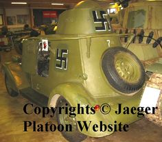 BAB B (BA-20M) armoured car. Notice both original frame antenna and base for Finnish whip antenna on hood of the car. Photo taken in Panssarimuseo