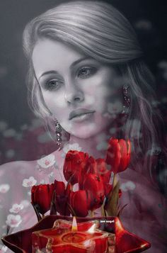 Foto animada Crown Images, Red Images, Love Images, Beautiful Rose Flowers, Beautiful Gif, Color Splash Effect, Gifs Amor, Fair Face, Cool Photo Effects