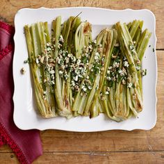 Roasted Celery and Blue Cheese #reinvention #healthyholidays