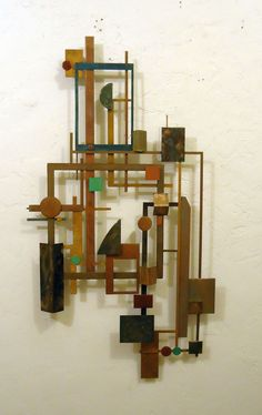 Modern industrial Metal Wall Art Sculpture Mid Century wall art contemporary  US