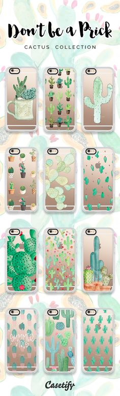12 most wanted cactus iPhone 6 protective phone cases | Click through to see more iPhone phone case designs >>> https://www.casetify.com/artworks/pUxqvWOCO9 #gardenart | @casetify