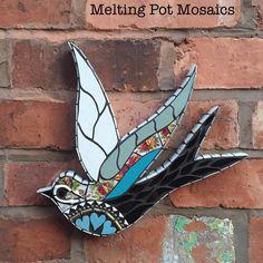 #meltingpotmosaics #smallbusiness #swallows #mosaics #mosaicart #cuphandles