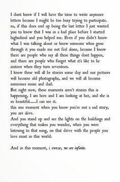 Last page of Perks Of Being A Wallflower