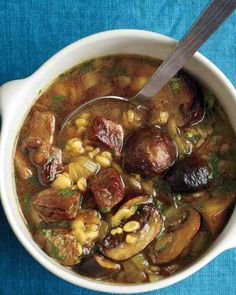 Everyday Food Recipes - Roasted Beef, Mushroom and Barley Soup