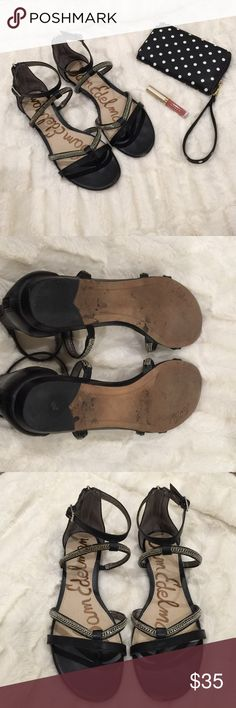 Sam Edelman 'Renee' gladiator sandals So perfect! 'Renee' gladiator sandals by Sam Edelman. Fit true to size. Worn a few twice. Wear on area by toes and seen in pics. Sam Edelman Shoes Sandals