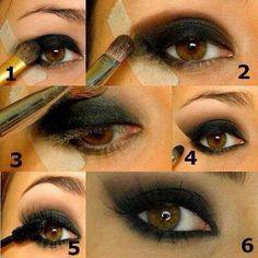 Técnica Fácil para Maquillar Ojos by maquillajebellezamujer.blogspot.com