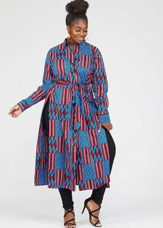 Modern African Clothing, African Print Clothing, African Print Fashion, Long African Dresses, African Print Dresses, African Outfits, African Print Pants, African Prints, African Tops