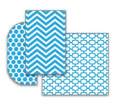 Fridge Coasters come in fun colors and prints.  They fit in any refrigerator!