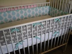 Standard Crib Bumper Custom Made w/ Client's Fabric by AngelsWings, $60.00