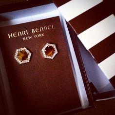 henri bendel luxe hex semi-precious stud earrings #jewelry #earrings #studs #henribendel #bendelgirl #luxe #shopaholic #tramorecollection #Padgram