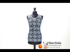 how to crochet summer top tunic free pattern tutorial for beginners túnica tunique para verano - YouTube