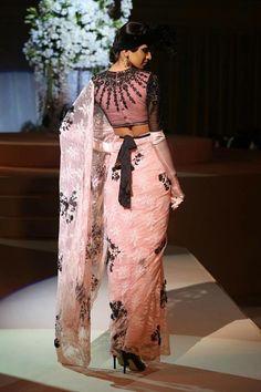 beautiful details on #Saree #Choli back