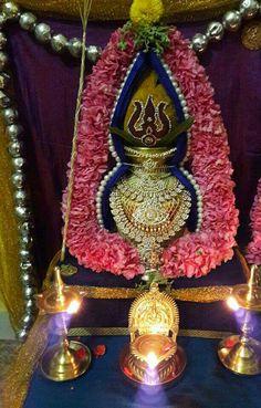 Kalsh Wedding Hall Decorations, Diwali Decorations, Festival Decorations, Flower Decorations, Kalash Decoration, Silver Pooja Items, Ganapati Decoration, Pooja Room Door Design, Hindu Mantras