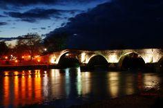 Arta's Bridge By Night Greece, Beautiful Places, Places To Visit, World, Travel, Bridges, Spaces, Beauty, Night