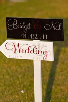 Custom Wedding Sign with Damask Directional by OurHobbyToYourHome, $89.95