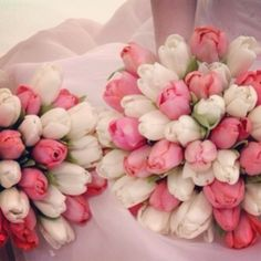 """Tulips wedding bouquet.  I'm going to rename my dreams folder to """"yah right"""""""