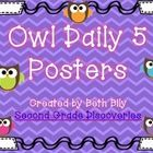 These owl themed Daily 5 posters were designed to be used around the classroom to reference where the Daily 5 stations are located in your room. Th...