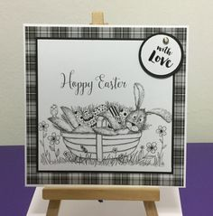 Warren Monochrome, Happy Easter Card, Craftwork Cards